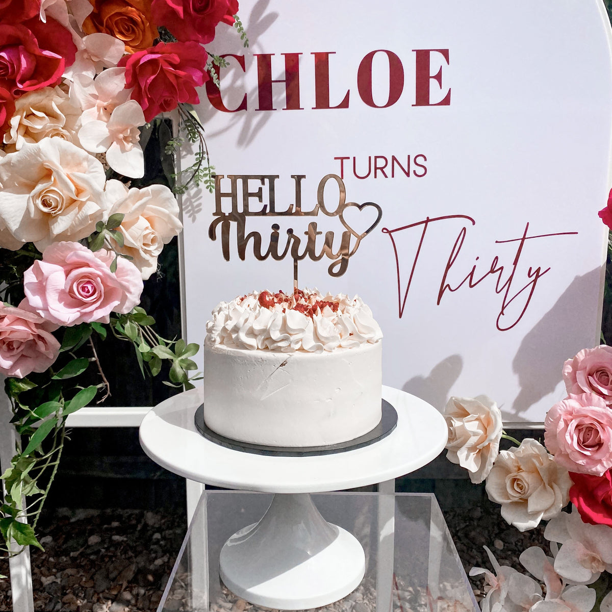 Hello Number Cake Topper