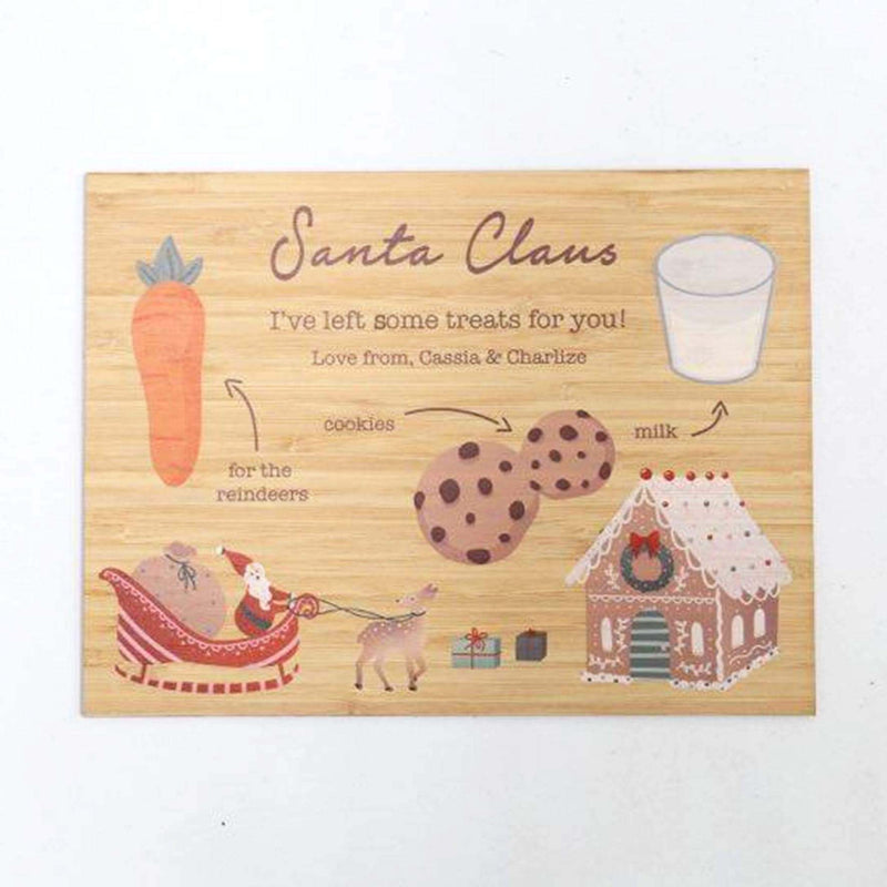 Santa & His Reindeers Board - Printed