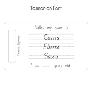 Personalised Trace & Erase - First Name, Middle Name & Surname