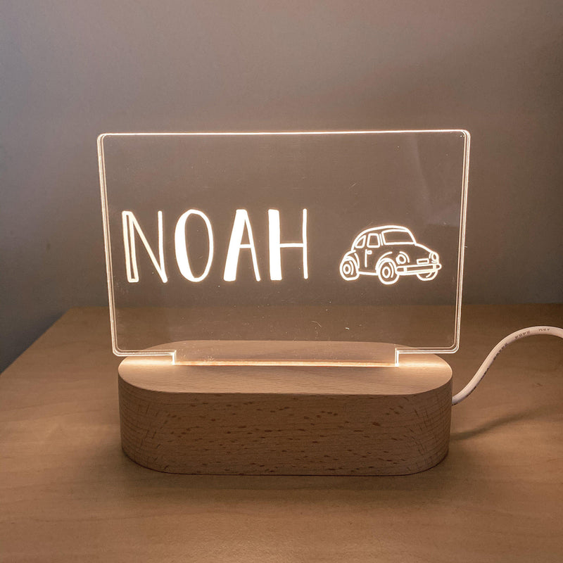 Night Lights (USB Operated) - Rectangle Personalised