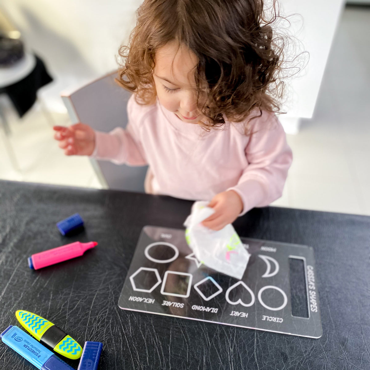 Personalised Trace & Erase - Shapes board