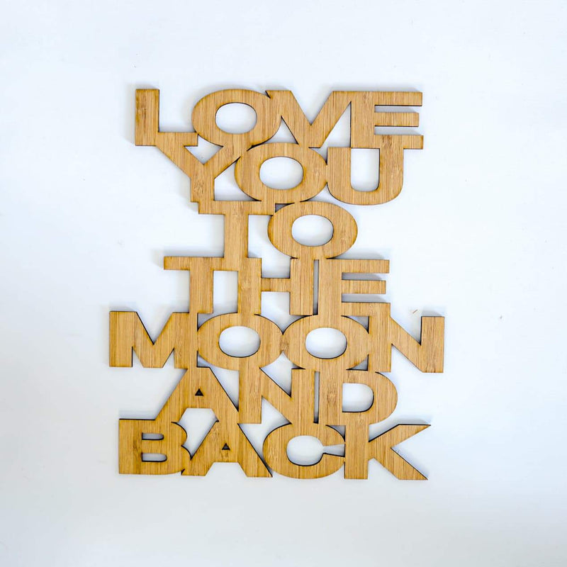 Love You To The Moon And Back Quote Decal-Quote Decal-CMC Gold