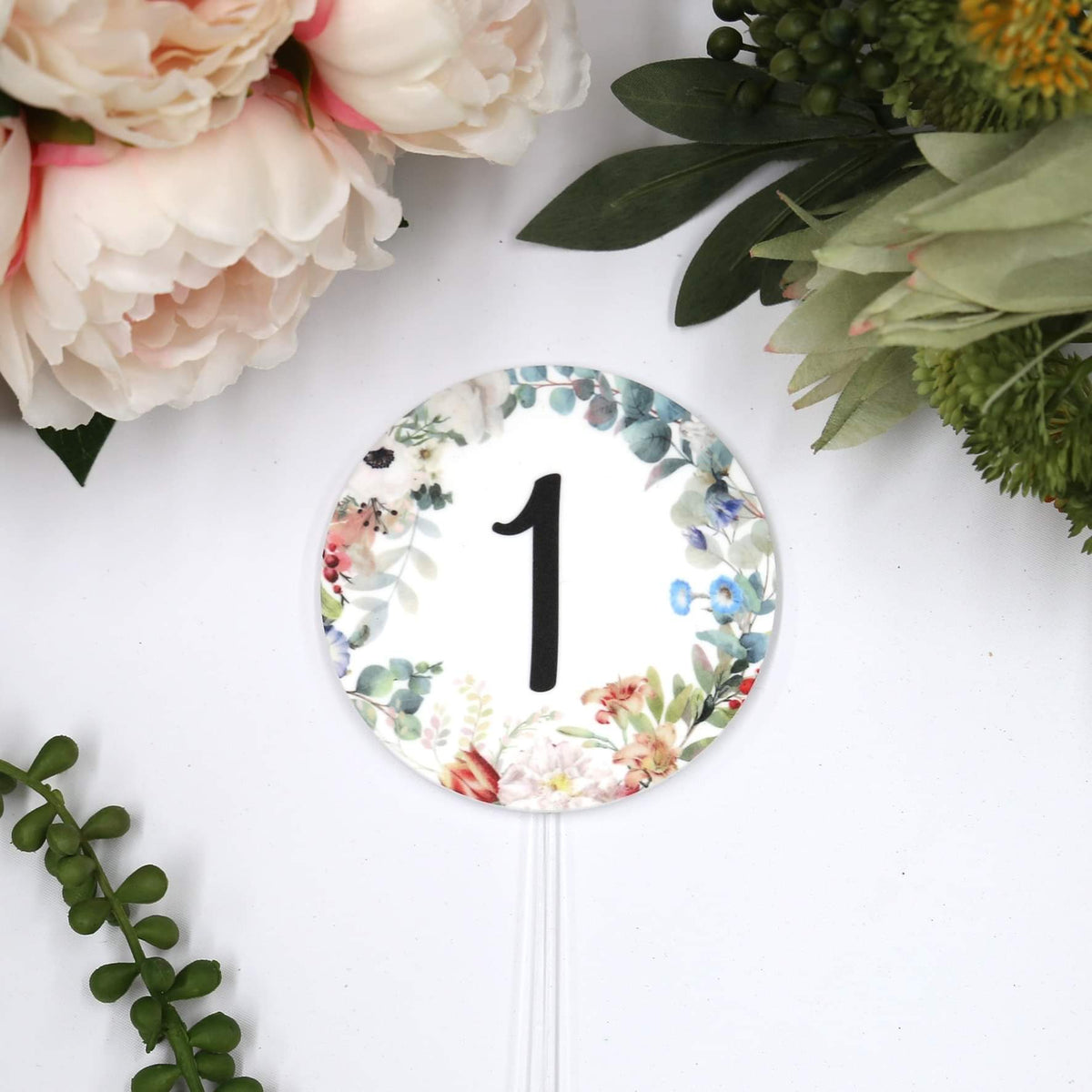 Number - Printed Floral Cake Topper-Cake Topper-CMC Gold