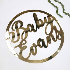 Round Cut Out Signage - Custom Text 60cm-Name Plaque-CMC Gold