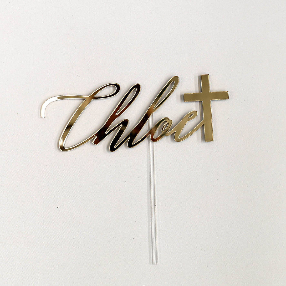 Sample / Second: Acrylic Cake Topper
