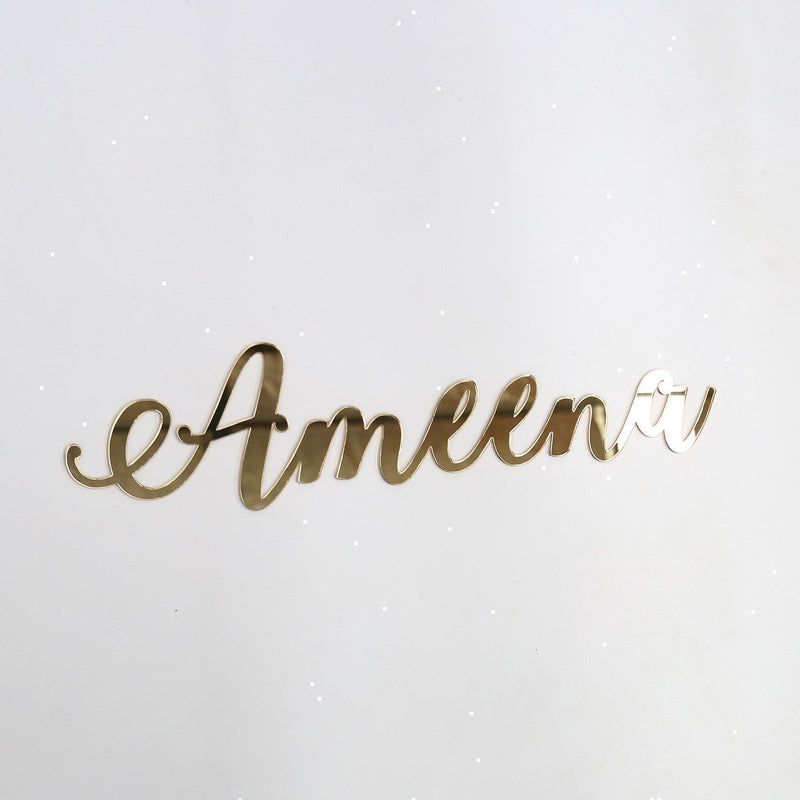 Sample / Second: Acrylic Plaque-Name Plaque-CMC Gold