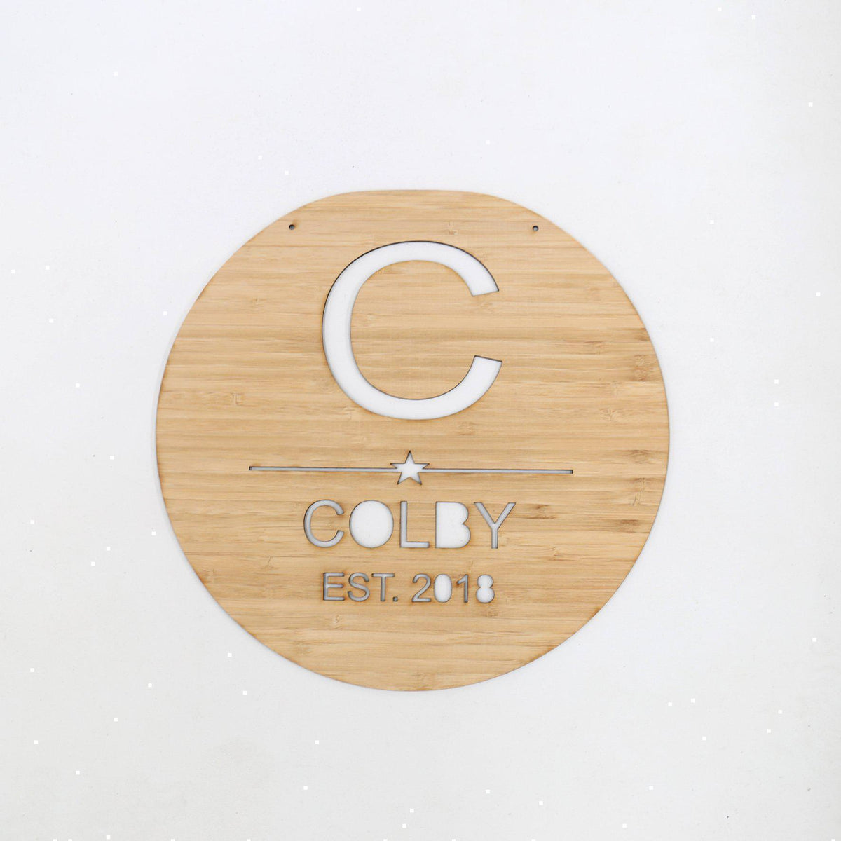 Sample / Second: Round Wooden Plaque