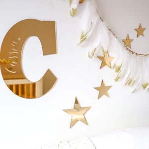Star Decal set (set of 5)-Wall Decal-CMC Gold