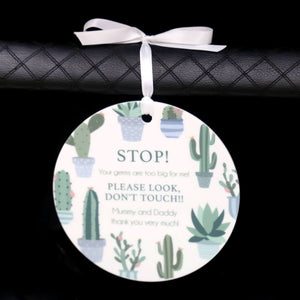 STOP! Germs are too big for me plaque-Birth Announcement-CMC Gold