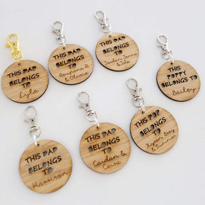 This Dad Belongs To Keyring - Personalised-Father's Day-CMC Gold