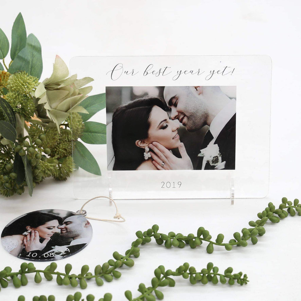 Transparent Acrylic Printed Photo Frame - Our Best Year Yet-Printed Photo Frame-CMC Gold