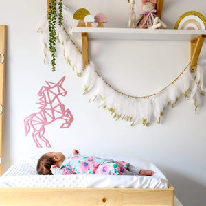 Unicorn Geometric Wall Decal-Geometric Wall Decal-CMC Gold