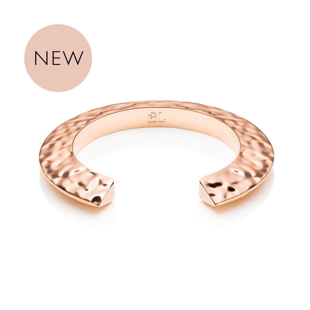 Hvar Hammered Bangle (Rose)