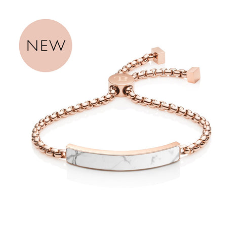 Marble Luxe Chain Bracelet (Rose/White)