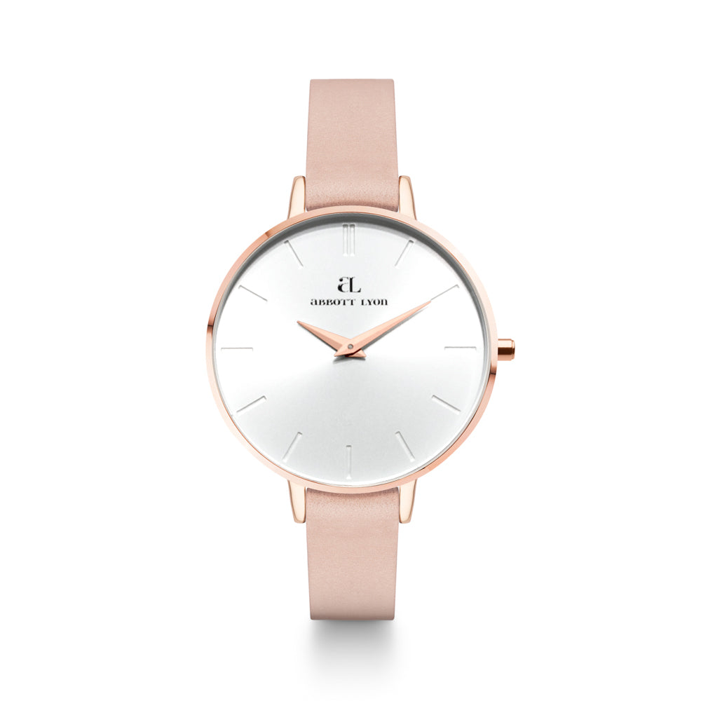 Nude Leather Rose Gold Minimale 38 (Rose/White)