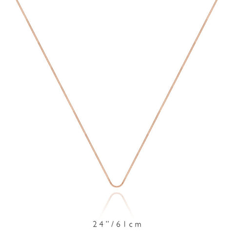 Long Chain Necklace (Rose)