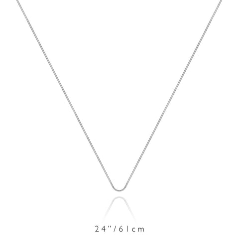 Long Chain Necklace (Silver)