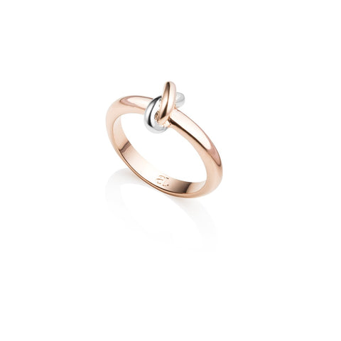 Knot Ring (Rose/Silver)