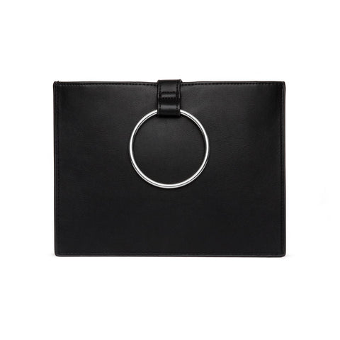Maia Clutch (Black/Silver)