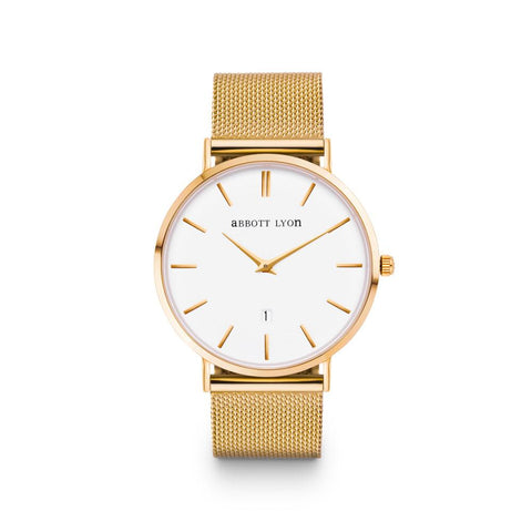 Men's Gold Chain Kensington 40 (Gold/White)
