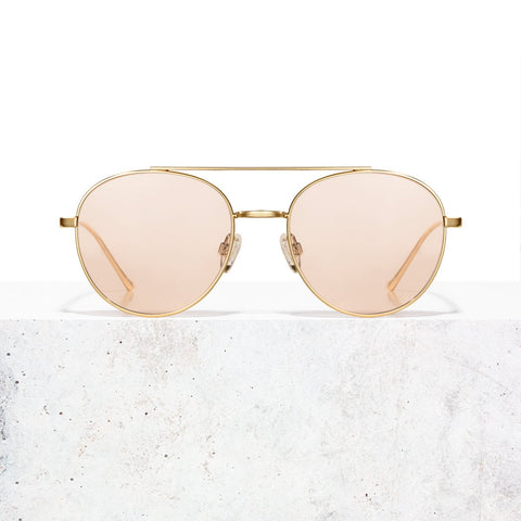 Gold Clear Rose Vita Sunglasses