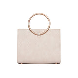 Moda Top Handle Bag (Ivory White/Rose Gold)