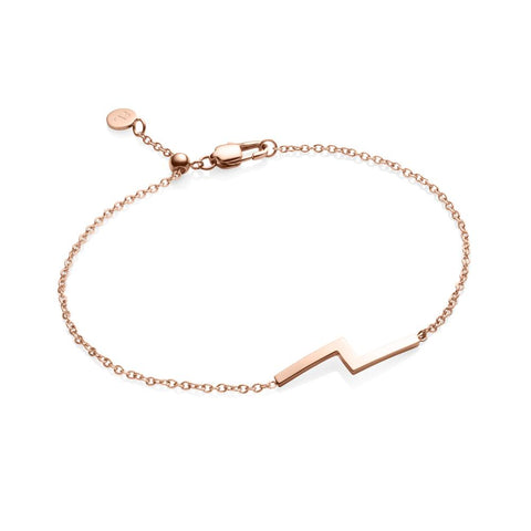 Little Luxe Zig Zag Bracelet (Rose Gold)