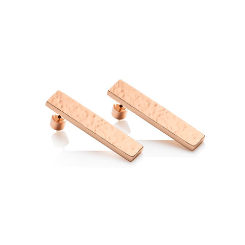 Lineare Hammered Earrings (Rose)