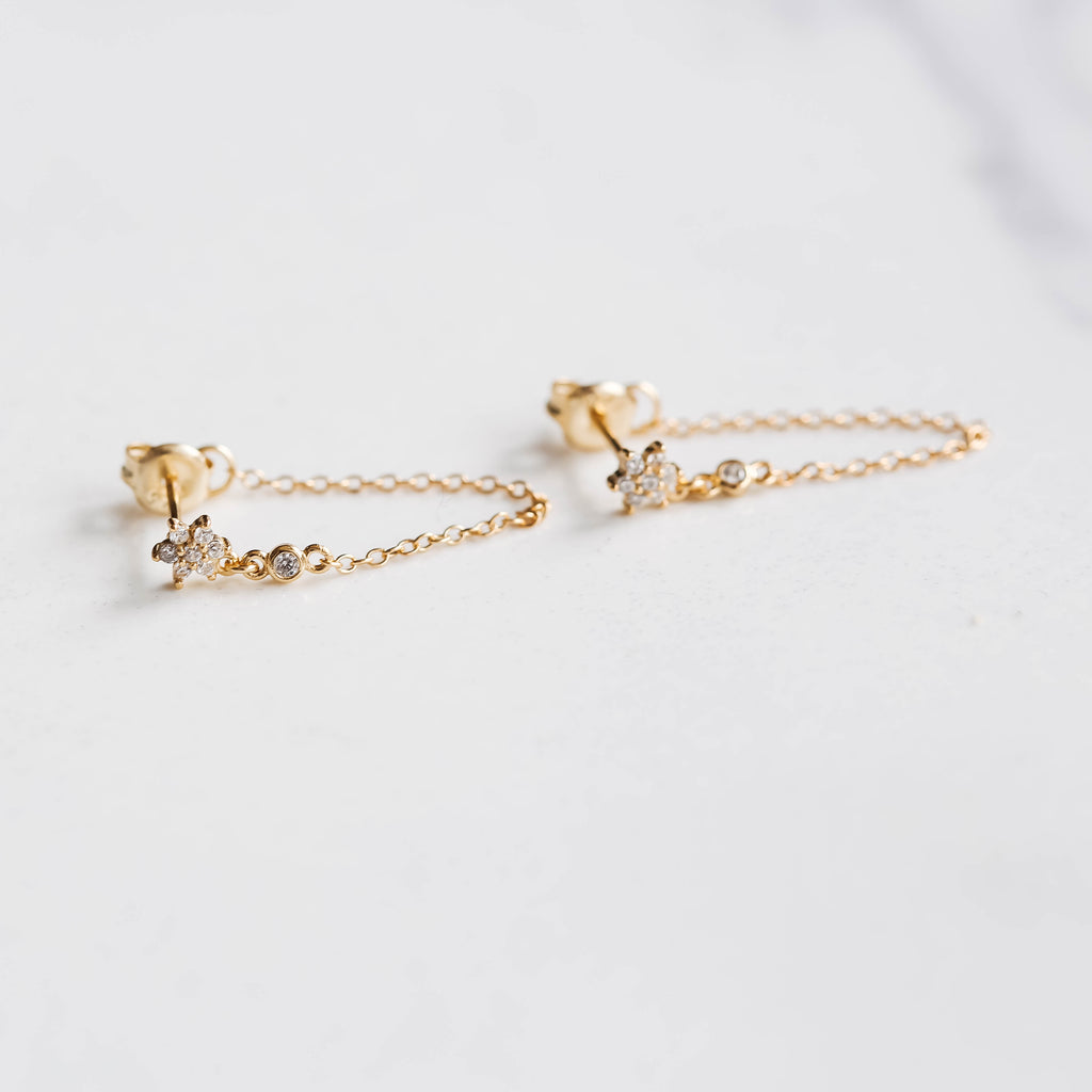 Flower Chain Earrings