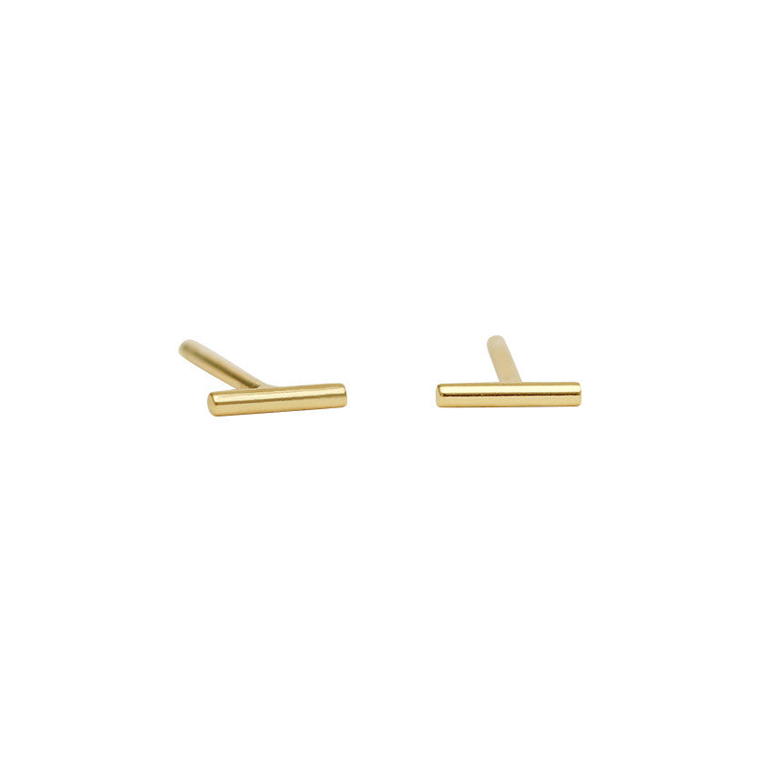 Thin 5mm Bar earrings