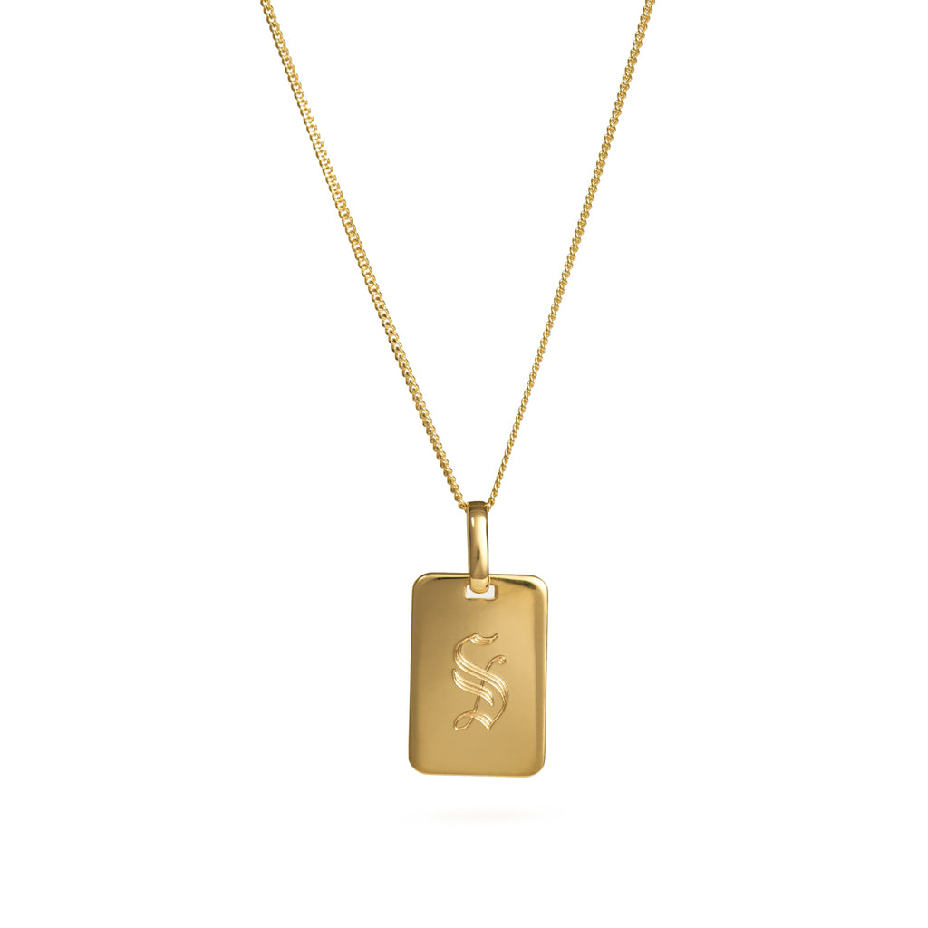 Initial Tag Necklace