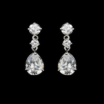 Elegant Cubic Zirconia Wedding or Special Occasion Earrings