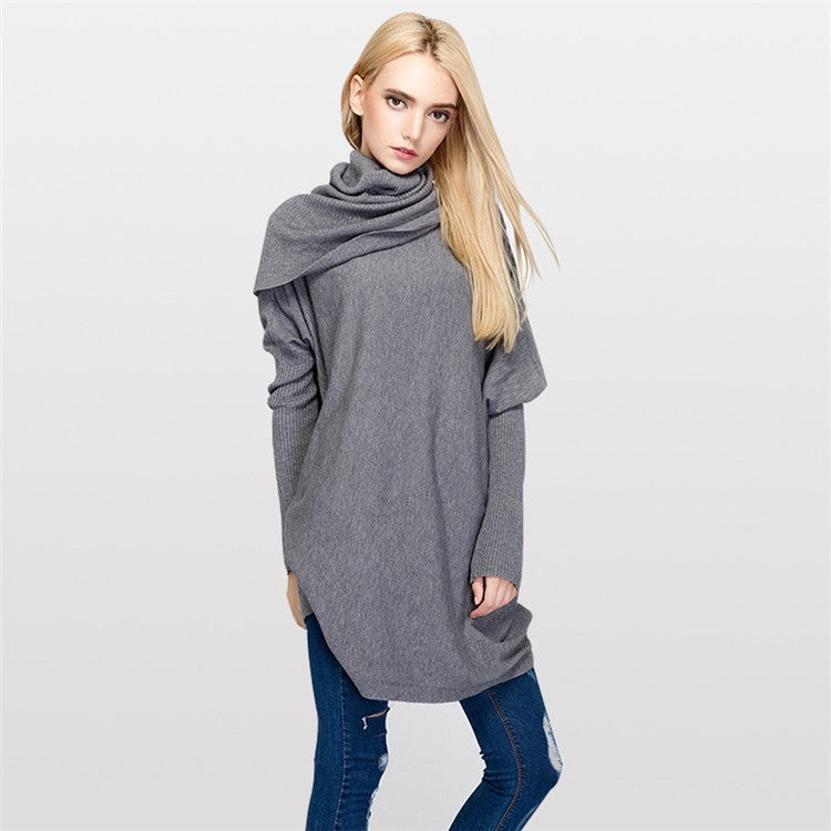 New 2016 Women Knitwear Batwing Sleeve Pullover Sweater Autumn Winter Turtleneck Knitted Warm Female Pullovers
