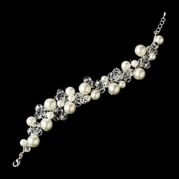 Pearl and Crystal Destination Wedding Bracelet