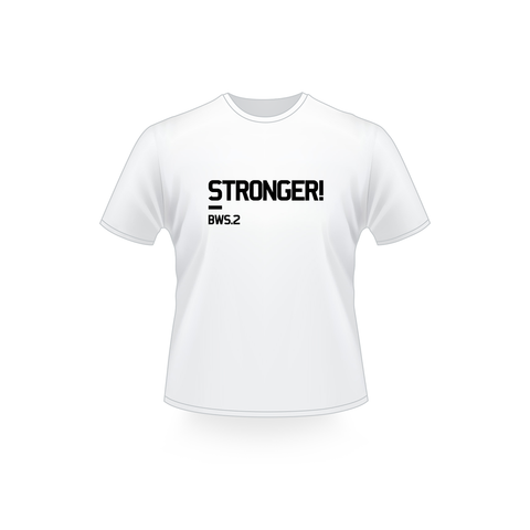 STRONGER! BWS.2 Shirt / White