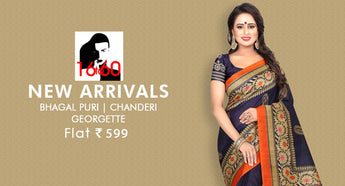 16TO60TRENDZ-Bhagal Puri,chanderi & Georgette Saree-Flat 599