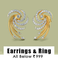 Earrings & Ring : All  Below 999/-