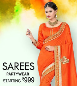 Partywear Sarees Starting Rs 999