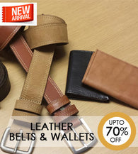Leather Belts & Wallets