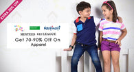 Kids Apparel & Booties - Upto 90% off
