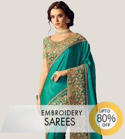 Embroidered  Designer Sarees