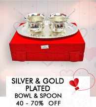 Silver & Gold Plated  Bowl & Spoon-Min 50- 60% Off