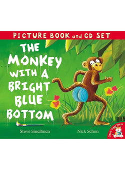 Book & Cd: Monkey With A Bright Blue Bottom