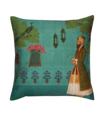 Maharaja Walk Poly Taf-Silk Cushion Cover AW_100000720930