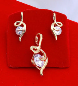 Ankita Fashion Gold Plated American Diamond Single diamond pendant set $ AF78861246