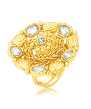 Sukkhi Ritzy Gold Plated Ring For Women