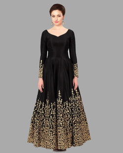 YOYO Fashion Designer Embroidered Tafeta Silk Bridal Anarkali Salwar Suit $ F1075