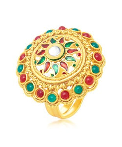 Sukkhi Incredible Gold Plated Ring For Women