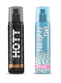 HOTT Mens MUSK & Naughty Girl ECHO- (Set of 2 Perfume for Couple) (135ml each)