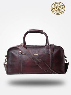 Strutt Unisex The Maroon Leather Travel Duffel $ SMD547